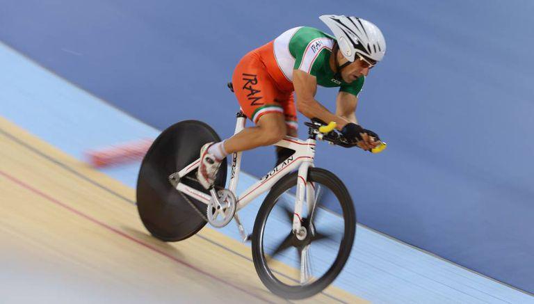 O ciclista iraniano Bahman Golbarnezhad, em imagem de arquivo.
