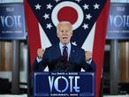 El candidato demócrata a la Casa Blanca, Joe Biden, en un acto de campaña en Cincinnati (Ohio), el 12 de octubre.