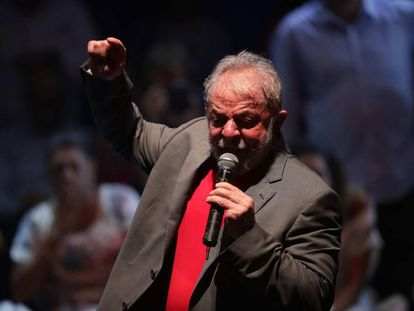 Lula, em 2 de abril de 2018.