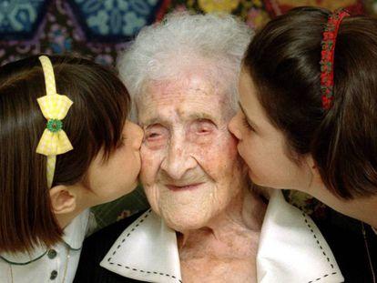 Jeanne Calment viveu até os 122 anos.