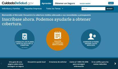 O portal em espanhol cuidadodesalud.gov