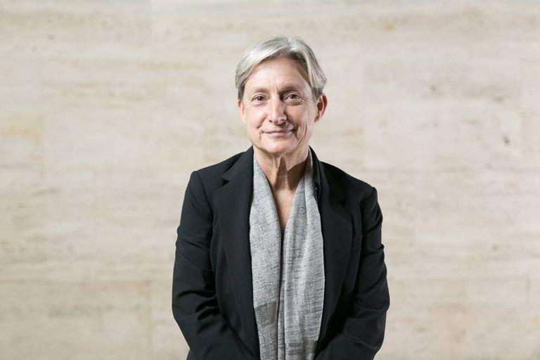 A filósofa norte-americana Judith Butler durante uma visita a Barcelona, em 2018