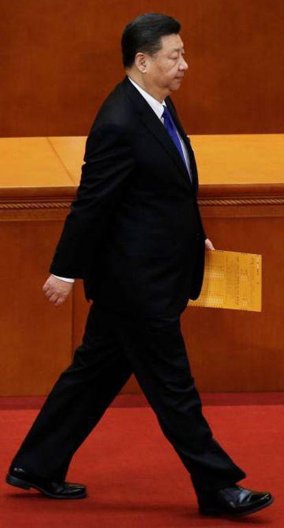 Xi, durante a sessão plenária do Congresso Nacional do Povo, em Pequim em 19 de março passado.