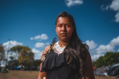 """Jaciene Brito, Tupinambá: """"The Indian without territory is not an Indian""""."""