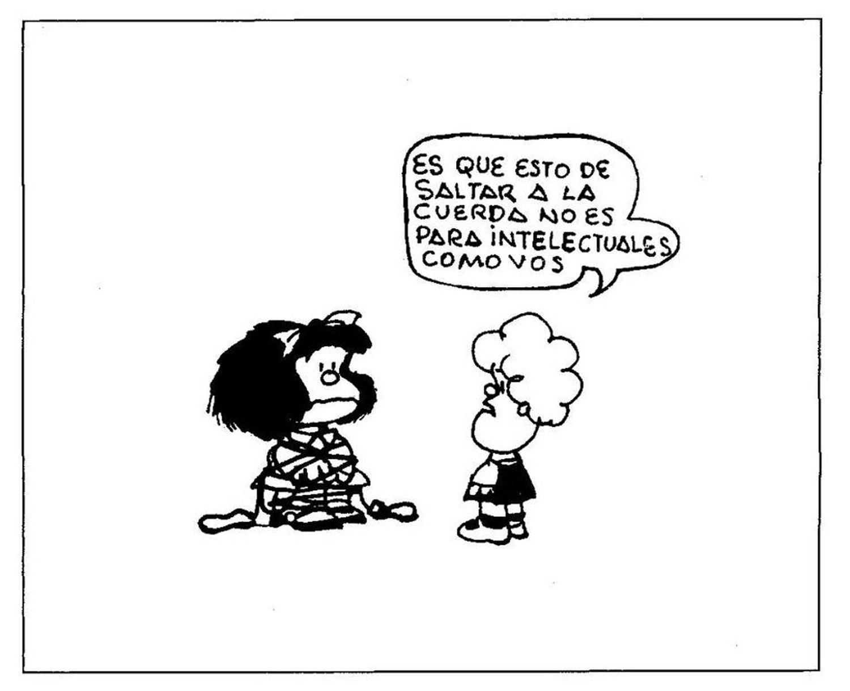 Quadrinho da coletânea 'El amor según Mafalda', de Quino.
