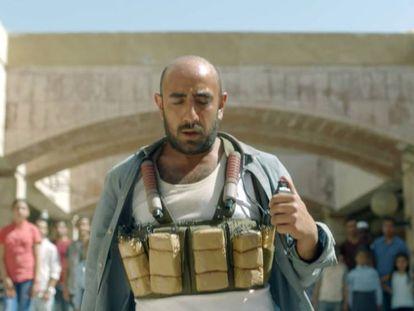 Uma instantânea do vídeo emitido pela empresa kuwaití Zain Telecom.