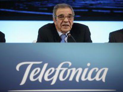 O presidente de Telefónica, Cesar Alierta