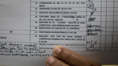 Prontuário médico de paciente em Itacoatiara-AM com a receita de proxalutamida.