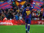 Messi celebra seu gol diante do Atlético de Madrid.