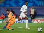Vinicius Junior of Real Madrid in action during the UEFA Champions League, Round of 16, football match played between Real Madrid and Atalanta de Bergamo at Alfredo di Stefano on March 16, 2021, in Valdebebas, Madrid, Spain. AFP7  16/03/2021 ONLY FOR USE IN SPAIN