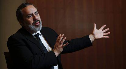 Alejandro Salas, na Casa de América de Madri, na terça-feira.