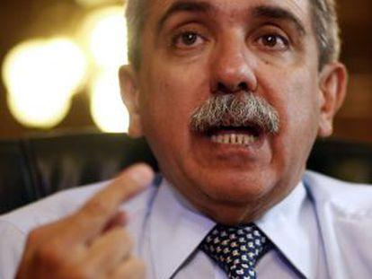 Aníbal Fernández, em fevereiro de 2012 na Casa Rosada.