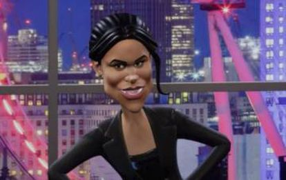 O avatar virtual de Meghan Markle no novo programa da BBC.
