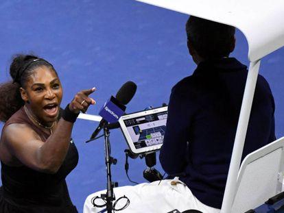 Serena Williams na final do US Open no último sábado, 8