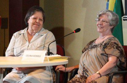 Inês Etienne Romeu (à esquerda), acompanha o depoimento da irmã, Célia Romeu, na Comissão Nacional da Verdade.