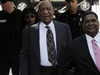 Bill Cosby ao chegar no tribunal na terça-feira.