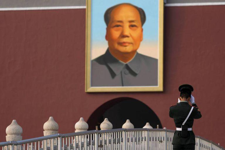 Retrato de Mao Tsé-Tung na Praça Tiananmen, em Pequim.