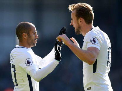 Lucas e Harry Kane, opções ofensivas do Tottenham.
