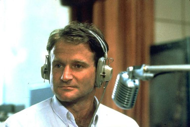 Robin Williams no filme 'Good Morning Vietnam', de 1987.