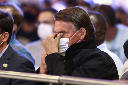 Jair Bolsonaro durante missa pelo dia de Nossa Senhora Aparecida, celebrado em 12 de outubro.