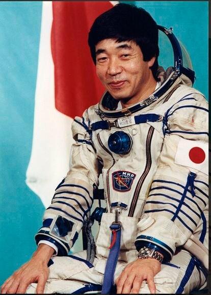 Toyohiro Akiyama, numa foto oficial antes de viajar à estação Mir.