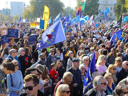 Protesto contra o 'Brexit', neste sábado, em Londres.