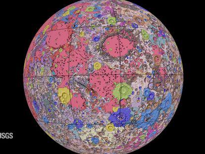 Mapa Geológico Unificado da Lua.