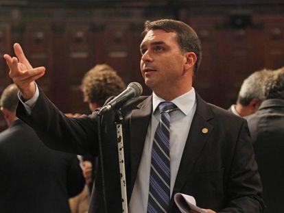 O deputado estadual e senador eleito Flávio Bolsonaro.