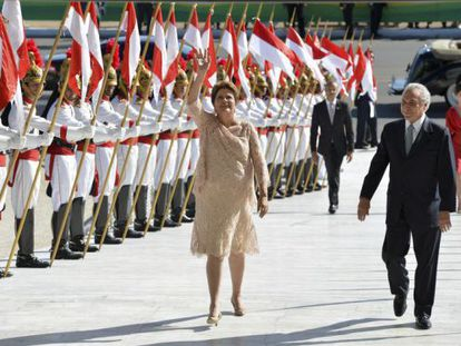 Dilma desfilou,na cerimônia de posse, 6kg mais magra.