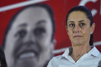 A prefeita da Cidade do México, Claudia Sheinbaum, em um evento de campanha em abril de 2018.