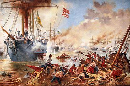 Combate Naval do Riachuelo, pintura deVictor Meirelles)