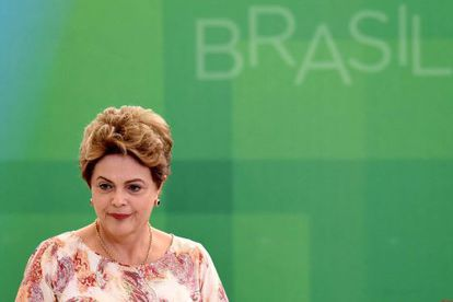 Dilma Rousseff em cerimônia no Palácio do Planalto.