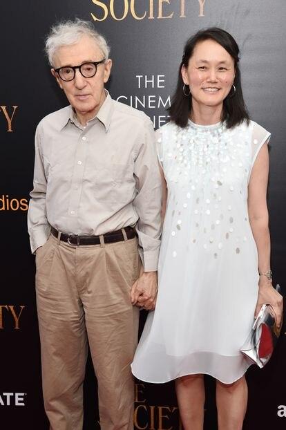 Woody Allen e Soon-Yi na estreia de 'Café Society' em julho de 2016.