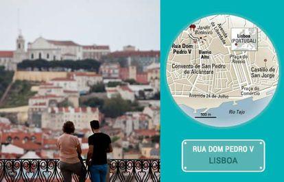 O mirante de São Pedro de Alcântara, em Lisboa.