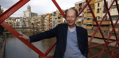 O filósofo italiano Giorgio Agamben fotografado em Girona, na Catalunha, em 2014.