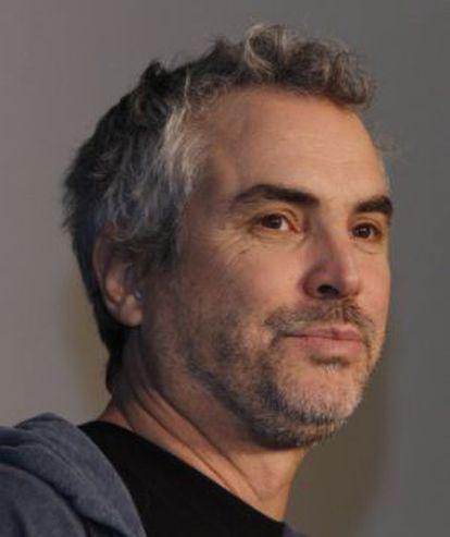 Alfonso Cuarón em uma entrevista coletiva em abril.