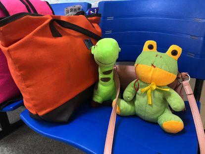 Os brinquedos de pelúcia que acompanharam a menina de dez anos na viagem até o Recife para a realização do aborto.
