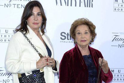 Carmen Martinez-Bordiú com sua mãe, Carmen Franco, em 2014.