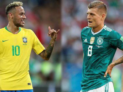 Neymar e Kroos, símbolos de duas escolas de futebol distintas.