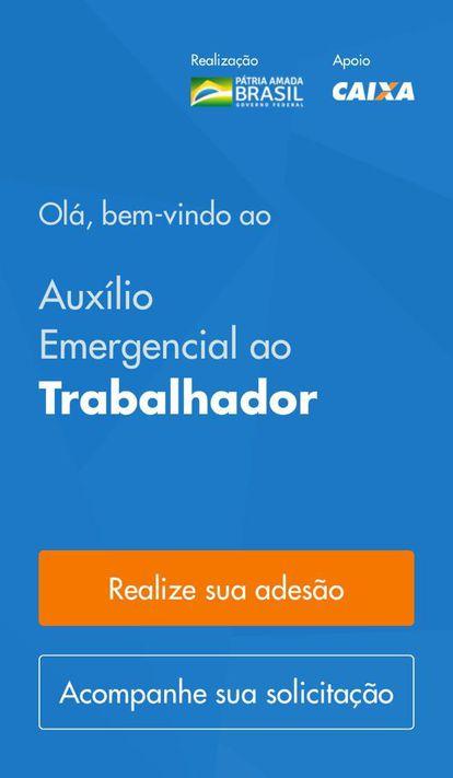 Aplicativo da Caixa para receber o auxílio emergencial na crise do coronavírus