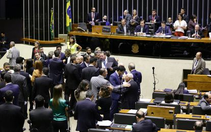 Plenário da Câmara dos Deputados, nesta terça.