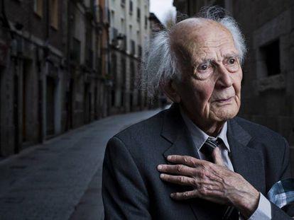 O sociólogo Zygmunt Bauman, em Burgos (Espanha), fala na entrevista sobre o impacto das redes sociais.