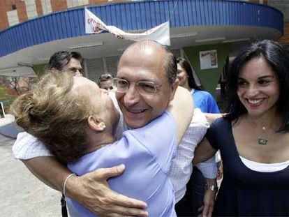 Geraldo Alckmin durante a campanha eleitoral de 2018.