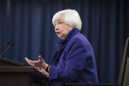 A presidenta do Federal Reserve, Janet Yellen.