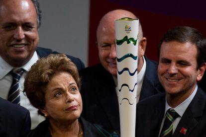 A presidenta Dilma e o prefeito Eduardo Paes e julho.