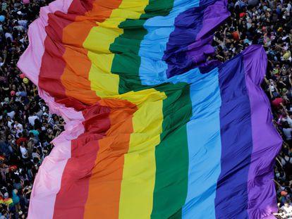 A Parada LGBT 2017 na Paulista.