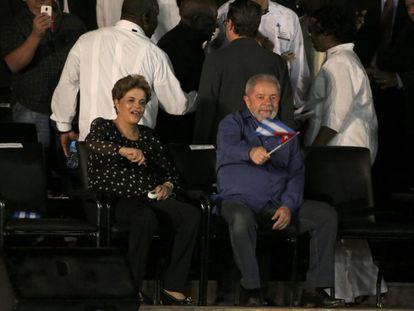 Dilma Rousseff durante tributo a Fidel Castro no domingo,4, em Cuba