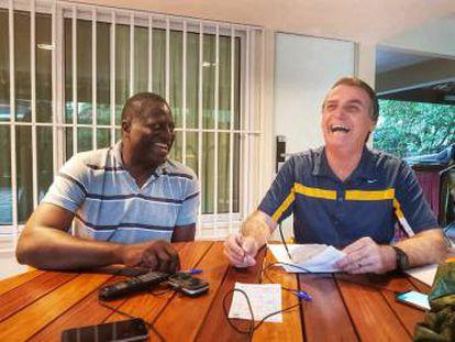 Helio Negão e Jair Bolsonaro.