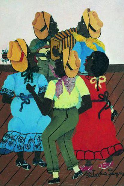 Quadro 'A Roda de Samba', de Heitor dos Prazeres (1960)
