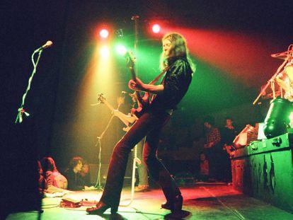 O britânico Eddie Clarke no palco de Electric Circus.